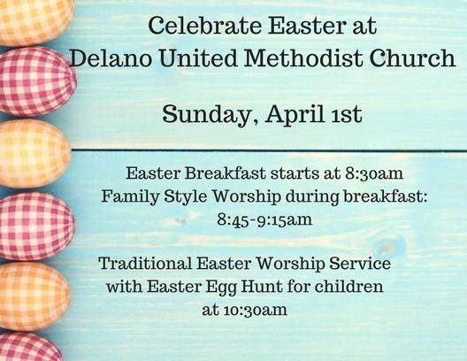 Easter at Delano United Methodist Church