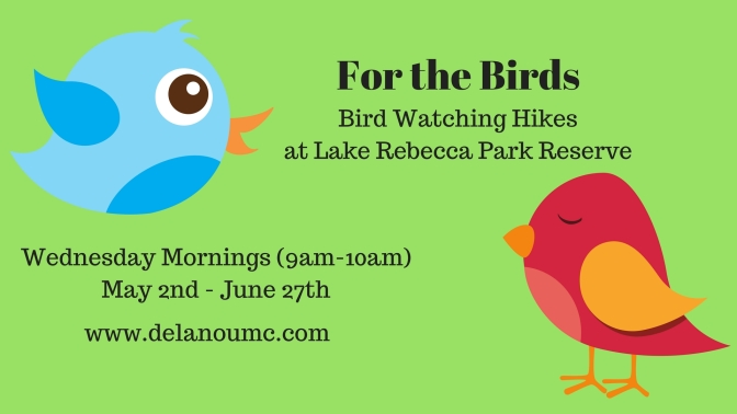 FOR THE BIRDS: BIRD WATCHING HIKES AT LAKE REBECCA